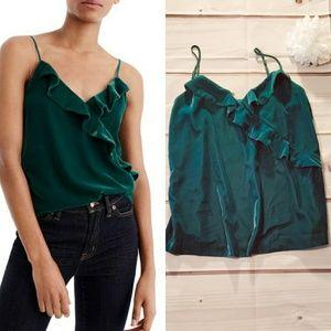 J Crew Emerald Green Velvet Camisole